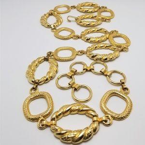Vintage Gold Metal Ring Loop Belt